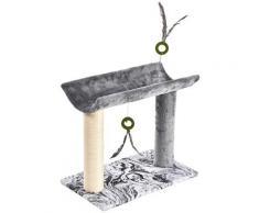 HEIM Kratzbaum Love, hoch, BxTxH: 31x51x45 cm grau Kratz- Kletterbäume Katze Tierbedarf