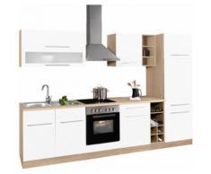 HELD MÖBEL Küchenzeile Eton EEK C weiß Küchenzeilen mit Geräten -blöcke Küchenmöbel Arbeitsmöbel-Sets