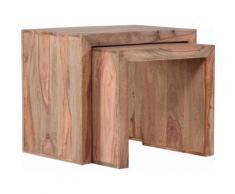 Gutmann Factory Satztisch Inka beige Couchtische eckig Tische Tisch