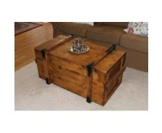 Uncle Joe´s Truhentisch Seefrachtkiste braun Holz-Couchtische Holztische Tische Tisch