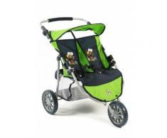 "CHIC2000 Puppen-Zwillingsbuggy ""Zwillings-Jogger Bumblebee"", grün, Kinder, grün"