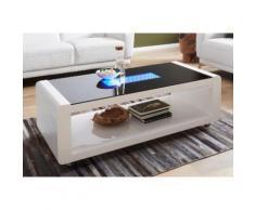 Homexperts Couchtisch, mit 3D-LED-Beleuchtung, auf Rollen weiß Couchtisch Couchtische Tische Möbel sofort lieferbar