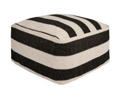 freundin Home Collection Sitzkissen Delilia, In- und Outdoor geeignet, Pouf, waschbar schwarz Stuhlkissen Kissen Kopfkissen