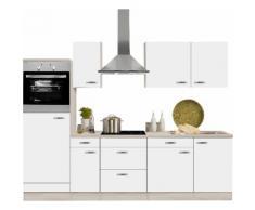 OPTIFIT Küchenzeile Faro ohne E-Geräte Breite 270 cm, weiß, weiß matt