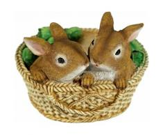 Home affaire Tierfigur Zwei Hasen im Korb, gelb