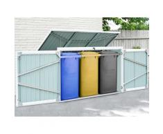 KONIFERA Mülltonnenbox Tobi 3, für 3x240 l, BxTxH: 233x101x134 cm grau Mülltonnenboxen Garten Balkon