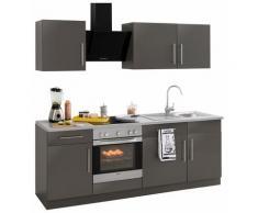 wiho Küchen Küchenzeile Cali grau Küchenzeilen ohne Geräte -blöcke Küchenmöbel Arbeitsmöbel-Sets
