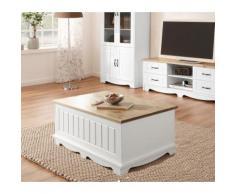Home affaire Couchtisch Trinidad, Breite 120 cm weiß Truhen-Couchtische Couchtische Tische Tisch