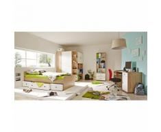 Komplett Jugendzimmer Corner, 4-tlg., (Einzelbett, Kleiderschrank, Kommode, Schreibtisch), Sonoma weiß