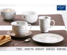 Frühstücks-Set Doppio Vintage nougat - 6er-Set Kaffeebecher