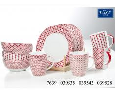 Frühstücks-Set Paco rot - 4er-Set Kaffeebecher