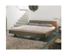Dormiente Massivholz-Bett Mucho Nussbaum geölt 100x200 cm