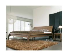 Dormiente Massivholz-Bett Madral Nussbaum geölt 120x200 cm