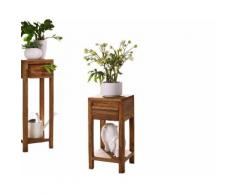 3S Frankenmöbel Massivholz Blumensäule New York Niedrig / B 30 x H 60 x T 30 cm