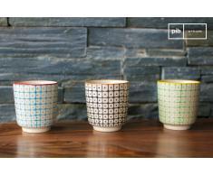 3 Kaffeetassen Brüni skandinavisches Design