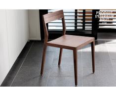 Stuhl Nöten aus Nussholz skandinavisches Design