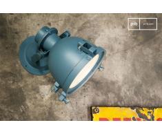 Wandlampe Spitzmüller in einem Petrolblau Industriedesign