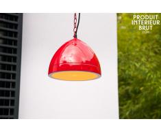 Deckenlampe Këpsta in Rot skandinavisches Design