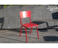 Roter Stuhl Skole boho