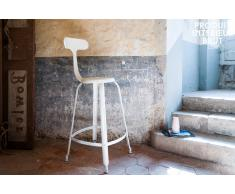 Barstuhl mit Nieten Weiß skandinavisches Design