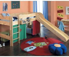 Taube Oliver Kinderzimmer Hochbett 90x190 cm Buche lackiert Treppe 154 cm
