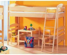 Taube Jens Kinderzimmer Hochbett Buche Treppe 90x190 cm