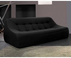 Dunlopillo Ora Ito Design-Sofa Tchubby Sofa XL Black Threedy / Chine grey Threed / Black velvet piping