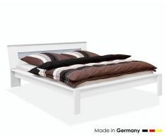 ArteM Bett trends Floatglas Weiss 200x200 cm