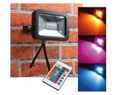 CHILITEC RGB LED Fluter SlimLine 10W Farbwechsel mit Fernbedienung IP44 EEK:A