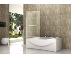 alphabad_de Eck-Duschtrennwand OBLANTE 75 (Badewanne)
