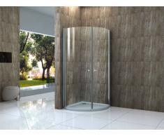 Alphabad Duschkabine PETIN 55 in 90 x 90 Viertelkreis ohne Duschtasse