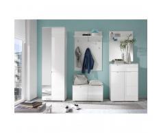 roomscape Garderobenset Larado (5-teilig) - Hochglanz Weiß / Weiß