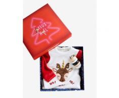 Baby-Geschenkset mit Strampler & Spielzeug weiß Gr. 50 von vertbaudet