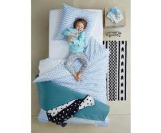 Bettwäsche-Set für Kinder, blau Gr. 140x150 - 63x63 von vertbaudet