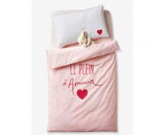 """""""Baby Bettbezug """"Mit Liebe"""" rosa Gr. 100x120 von vertbaudet"""""""