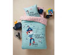 """""""Set aus Bett- & Kissenbezug ,,Pirat"""" blau Gr. 140x150 - 63x63 von vertbaudet"""""""