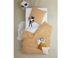 Bettwäsche-Set für Kinder, gelb Gr. 140x200 - 50x75 von vertbaudet