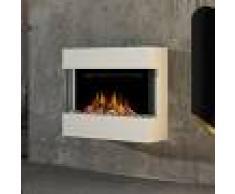 Noble Flame LIMA Wandkamin [moderner Design Elektrokamin]: mit weißen Acrylsteinen