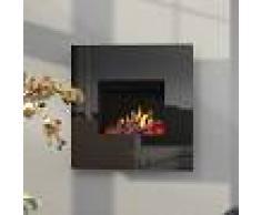 Noble Flame ORION [Opti-myst Elektro-Wandkamin]: Schwarz - Schwarz, spiegelnd