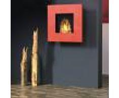 muenkel design square fire 75 [quadratischer Bioethanol Wandkamin]: Rot