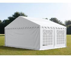 Profizelt24 Partyzelt 5x4m PVC weiß Gartenzelt, Festzelt, Pavillon