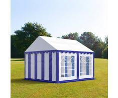 Profizelt24 Partyzelt 3x4m PVC blau-weiß Gartenzelt, Festzelt, Pavillon