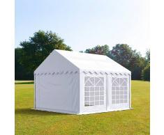 Profizelt24 Partyzelt 3x4m PVC weiß Gartenzelt, Festzelt, Pavillon