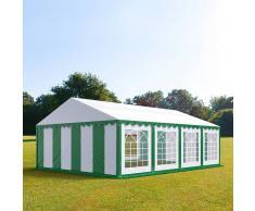 Profizelt24 Partyzelt 5x8m PVC grün-weiß Gartenzelt, Festzelt, Pavillon