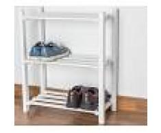 Steiner Shopping Möbel Schuhregal Buche Vollholz massiv weiß lackiert Junco 224 - 70 x 58 x 26 cm (H x