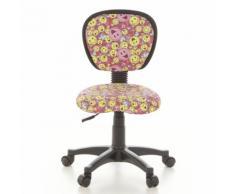 Kinderschreibtischstuhl / Kinderstuhl KIDDY TOP Smiley Stoff pink/gelb hjh OFFICE