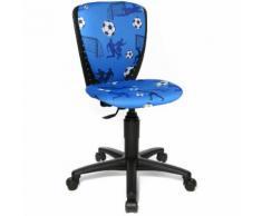 Topstar Kinderschreibtischstuhl / Kinderstuhl SCOOL 3 Stoff Fussball blau