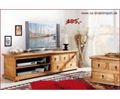 1a Direktimport Mexico Möbel - TV-Kommode, Lowboard, Phonotisch, Pinie massiv