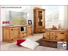 1a Direktimport Mexico Möbel - Lowboard, TV-Tisch, Pinie massiv