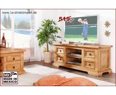 1a Direktimport Original Mexico Möbel TV-Tisch Phonotisch Lowboard, Pinie massiv, honig
